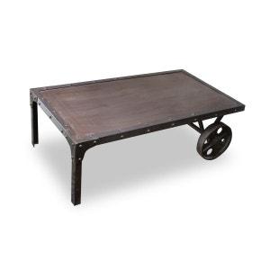 Table basse industrielle métal CHARIOT MILIBOO