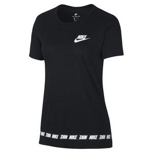 T-shirt con scollo rotondo tinta unita, maniche corte NIKE
