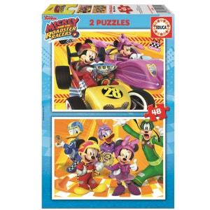 Puzzle 2 x 48 pièces : Mickey et ses amis : Top départ DISNEY