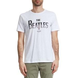 Tee Shirt Ben Sherman The Beatles Gingham Logo Ecru Homme BEN SHERMAN