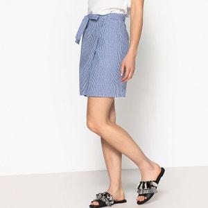 Gestreepte korte rok, overslagmodel, ROMY GARANCE PARIS