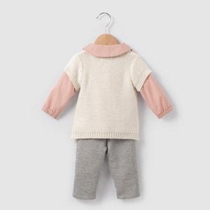 Ensemble blouse, gilet et jogpant 1 mois-3 ans R mini