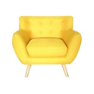 fauteuil scandinave jaune la redoute. Black Bedroom Furniture Sets. Home Design Ideas