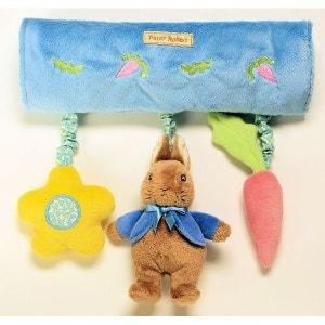 Trapèze d'activités pour lit bébé, maxi cosi, poussette,... - Hochets en forme de peluche - Modèle lapin ! NONAME