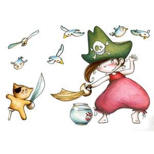 Sticker enfant - Pirata et ourson ACTE DECO