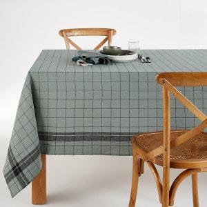 Mantel mezcla de lino/algodón lavado de cuadros Margaret