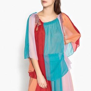 Mehrfarbige Bluse ANAIS aus Voile ANTIK BATIK