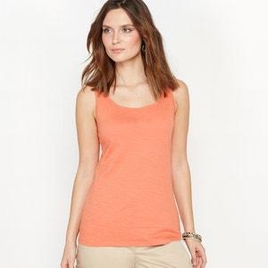 Koszulka bez rękawów z czystej, flamowanej bawełny ANNE WEYBURN