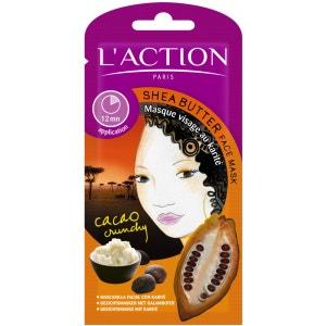 Masque karité  Hydratant & raffermissant - Tous types de peaux - 12 g L'ACTION PARIS