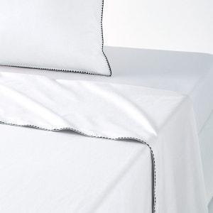 Drap, percale coton lavée, bourdon, Adrio La Redoute Interieurs image