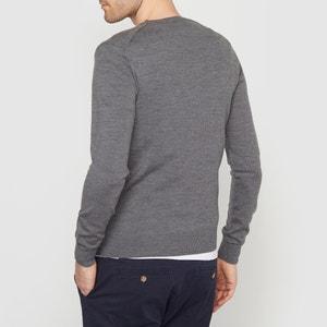 Jersey con cuello redondo, de lana merina La Redoute Collections