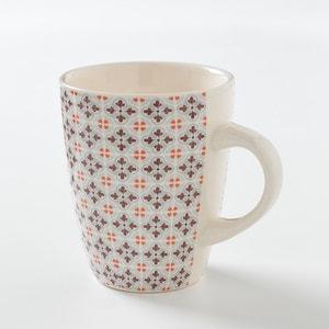 Set of 4 Mugs with Mosaic Tile Motif La Redoute Interieurs