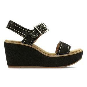 Sandales cuir compensées Aisley Orchid CLARKS