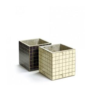 2 Pots Béton Cubique Marie Mosaïque 13 x 13 x 13 cm Serax SERAX