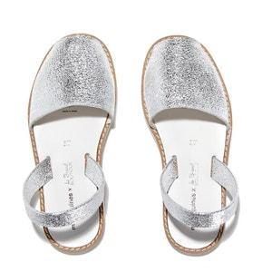 Sandálias rasas em pele de vaca AVARCA FIESTA BLANCO MINORQUINES