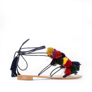 Lace-Up Tassel Trim Sandals R édition