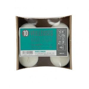 Lot de 10 maxi chauffe-plats transparents pour photophores 'mille feuilles d'or' BOUGIES LA FRANÇAISE