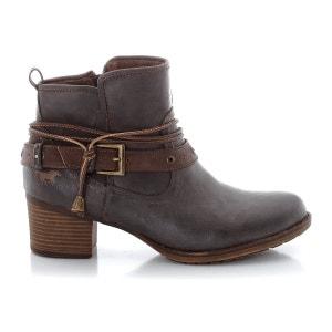 Boots à talon, zippées, avec brides et liens MUSTANG SHOES