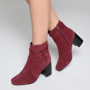 Boots cuir liens cheville La Redoute Collections