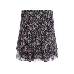Jupe courte plissée motif floral BREAL