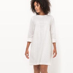 Vestido de encaje de manga corta, Made in France R essentiel