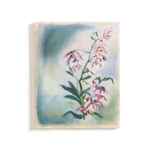 Bedrukt doek bloemmotief geverfd effect, Rosa