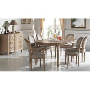 Table à manger extensible Classique chic Chêne massif 120/320cm MEDICIS PIER IMPORT