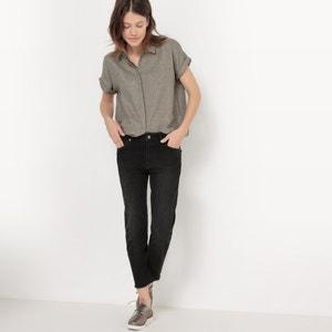 Straight-Cut Shirt with Metallic Fibres R studio