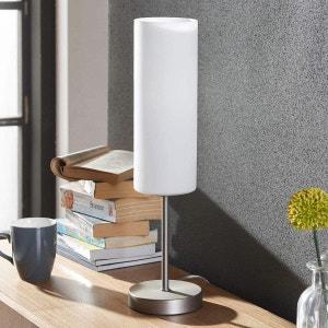 Lampe à poser Vinsta avec abat-jour en verre blanc LAMPENWELT