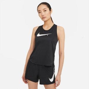 Camiseta de running con cuello redondo y logo delante