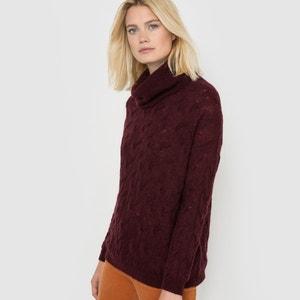 Pull dolcevita, maglia a trecce, mélange lana/mohair La Redoute Collections