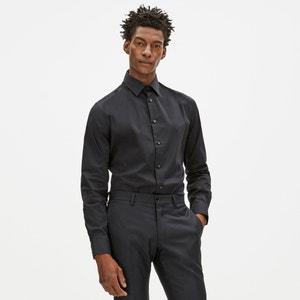 Popelinowa koszula z rozciągliwej bawełny FAPOPELINE CELIO