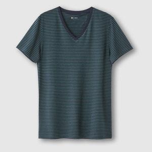 Camiseta con cuello de pico a rayas R édition