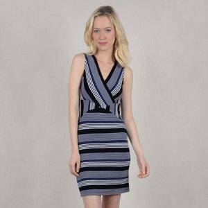 Bedrukte, korte rechte jurk met smalle bandjes MOLLY BRACKEN