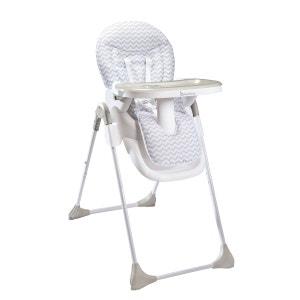 Chaise haute Easy B010204 blanc/gris BADABULLE