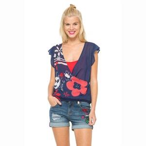 Blus Ariane Sleeveless Floral Print Top DESIGUAL