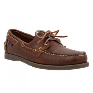 Chaussures bateaux homme SEBAGO Docksides Cuir  Homme Chocolat SEBAGO