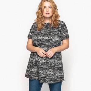 T-shirt tunique imprimé, manches courtes CASTALUNA
