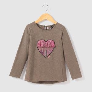 T-shirt manches longues avec coeur brodé 3-14 ans IKKS JUNIOR