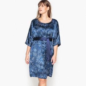 Short Floral Print Dress with 3/4 Length Sleeves CASTALUNA