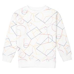 Printed Crew Neck Sweatshirt, 3-12 Years La Redoute Collections