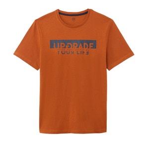 Bedrukt T-shirt met ronde hals en korte mouwen