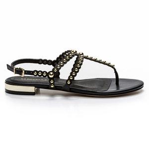 Sandales plates cuir Foli COSMOPARIS