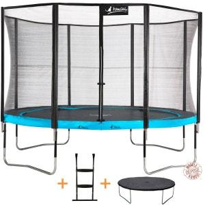 Trampoline de jardin rond 430 cm + filet de sécurité + échelle + bâche de protection   PUNCHI ATOLL 430 KANGUI