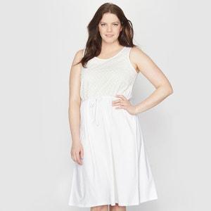 Vestido de dos tejidos TAILLISSIME