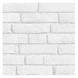 BRIQUES - papier peint blanc KOZIEL