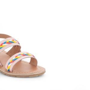 Sandalen met gevlochten detail La Redoute Collections
