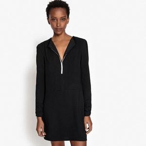 Korte jurk, decolleté met juweel vooraan La Redoute Collections