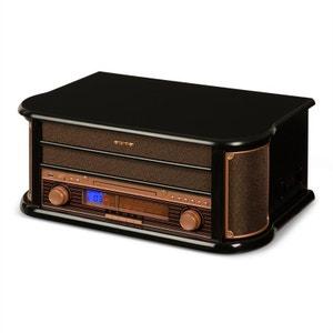 auna Belle Epoque 1908 Chaîne stéréo rétro platine vinyle USB CD MP3 radio K7 AUNA