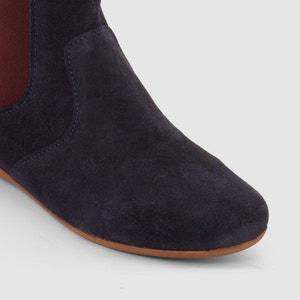 Boots in leer met gekleurde elastiek R essentiel